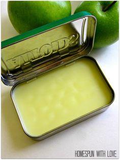 Homespun With Love: DIY Healthy Lip & Cuticle Balm
