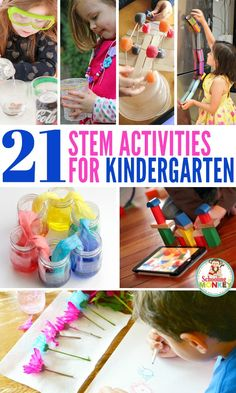 Science, technology, engineering, and math are important skills for kids. These STEM activities for kindergarten fit the bill! You'll have a blast with these kindergarten STEM activities. Best of all, STEM challenges for kindergarten don't have to be hard! Take your STEM ideas for kindergarten to the next level! #stem #stemed #stemactivities #kindergarten Math Activities For Kids, Science For Kids, Educational Activities, Elementary Science, Preschool Ideas, Anchor Charts, Kindergarten Projects, Kindergarten Architecture, Activities For Kids