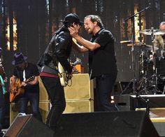 Eddie Vedder and Stone Gossard at the RRHOF Induction Ceremony. 4/7/17