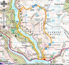 Ladybower Walking Routes, Blown Away, Workouts, Map, Body Sculpting Workouts, Hiking Trails, Work Outs, Maps, Exercise