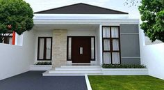 rustic home decor diy projects using exterior house design app android with indian house paint design exterior for house plans modern bungalow Bungalow Haus Design, Modern Bungalow House, Bungalow House Plans, House Paint Design, Small House Design, Modern House Design, Minimalist House Design, Minimalist Home Decor, Minimalist Kitchen