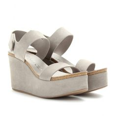 mytheresa.com - Pedro Garcia - DAKOTA SUEDE WEDGE SANDALS - Luxury Fashion for Women / Designer clothing, shoes, bags