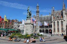 Bruges city square