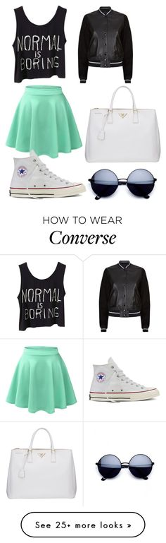 """""""Untitled #466"""" by mgarrison41 on Polyvore featuring LE3NO, Converse, rag & bone and Prada"""