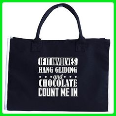 If It Involves Hang Gliding And Chocolate Count Me In - Tote Bag - Top handle bags (*Amazon Partner-Link)