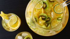 Cute, cool, and totally gorgeous, this family friendly passion fruit sangria that's refreshingly delish!
