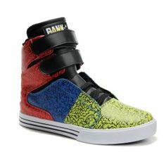 Supra Tk Society Red Blue Green Patent Lakers High Top Men Shoes Cheap  Jordan f17b07fac6d