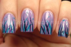 Nail Art: Rachel from Top Coat It. Base of OPI Do You Lilac It? w/ Sinful Colors Savage+China Glaze First Class Ticket