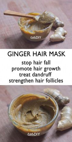 GINGER HAIR MASK FOR HAIR FALL AND THINNING HAIR Hair fall and breakage is the main cause for hair thinning. Factors like stress, using a lot of commercial hair products, lack of hair care, heat treatments etc. can make your hair thinner gradually. Pelo Natural, Natural Hair Care, Natural Hair Styles, Natural Skin, Diy Hair Mask, Afro Hair Mask, Hair Masks Homemade, Helmet Hair, Hair Falling Out