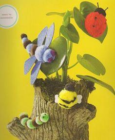 pom pom bug crafts | pom-pom insect kit