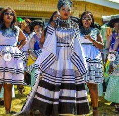 African Wedding Attire, African Weddings, African Attire, African Wear, African Fashion, Traditional Wedding Attire, African Traditional Wedding, Traditional Styles, Xhosa Attire