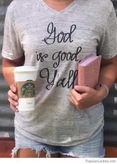 Awesome grey tee with message, coffee and book