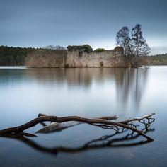 Loch an Eilein, Rothiemurchus Forest in Aviemore, Scotland