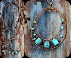 cobre e turquesa fio arame de cobre,contas semipreciosas,missangas modelado,wire wrap