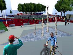 Projeto de Revitalização para a Praça Saturnino de Brito (Praça do Brahma) - centro de Santa Maria - RS.