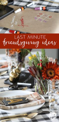 These easy and creative last-minute friendsgiving ideas will help you set-up and celebrate a beautiful and festive dinner with friends. Hosting Thanksgiving, Thanksgiving Table Settings, Thanksgiving Parties, Thanksgiving Decorations, Happy Thanksgiving, Holiday Decorations, Table Decorations, Tips And Tricks, Dinner With Friends