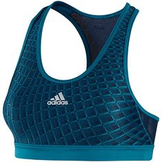 Womens Techfit Momentum Grid Bra, Vivid Teal / Collegiate Navy