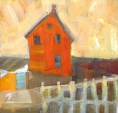 Orange House, an original painting by layne cook