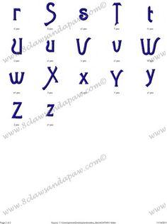 Agatha Alphabet Embroidery Design Agatha Font Includes 3 Sizes 1 Inch Satin Stitch 2 Inch Column Fill 3 Inch Column Fill 26 Upper Case Letters 26 Lower Case Letters