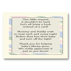 Love This Instead Of A Card Bring A Book. Print This And Put In Your · Baby  Shower ...