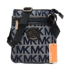Michael Kors Outlet Logo Signature Large Grey Crossbody Bags| Michael Kors Outlet Online