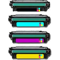 HP CE40 4-Colour Toner Cartridge Multipack - Compatible HP 507A