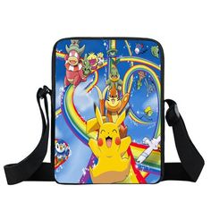 b44c46fe9d Anime Pokemon Mini Messenger Bag Kids Shoulder School Bags Boys Girls  Bookbag Children cartoon Bag Schoolbags For Snacks Mochila