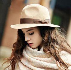 2015 fashion bow fedora hat for women wool felt hats
