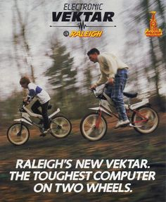"""Historical Pictures on Twitter: """"Raleigh Vektar . Equipped with a radio, sound generator and speedometer.. 1980."""