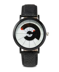 Men's Faux Leather Strap Watch by 24:01. simple watch that made of faux leather strap, adjustable pin buckle fastening. Black watch that suitable for everyday use, this watch will bring your outfit to the next level. http://www.zocko.com/z/JGtig