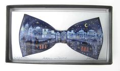 City Lights by Jack Kirwan - BOWTIE City Lights, Bow Ties, Bows, Hand Painted, Cool Stuff, Artist, Painting, Accessories, Style