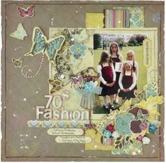 As promised here are the Layouts I did for Kaisercraft last October. General Crafts, Craft Items, 70s Fashion, Scrapbooking Layouts, Color Mixing, Embellishments, My Design, Projects To Try, Paper Crafts
