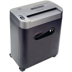 Royal 12-Sheet Cross Cut Shredder Shreds CD's with Console Black