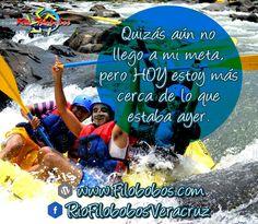 Quizás aún no llego a mi meta, pero hoy estoy más cerca de lo que estaba ayer http://www.filobobos.com #filobobos https://www.facebook.com/RioFilobobosVeracruz/