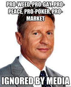 wikipedia article on Gary Johnson, the 2012 Libertarian Party presidential candidate and former Governor of New Mexico. We The People, Other People, President Meme, Conservative News Sources, Libertarian Party, Sarah Palin, Smoking Weed