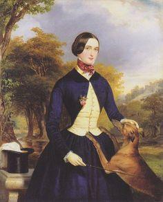 jeannepompadour:  Portrait of a woman as an Amazon by Ferdinand GeorgWaldmüller,1839