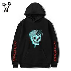 Lucky Charm Stylish Drawstring Pullover Hoodie Sweatshirt Regular Fit for Men