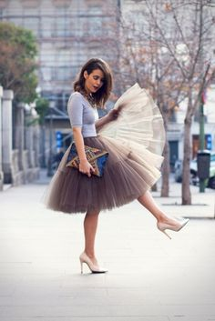 Tulle Ballerina Skirts for Grown Ups... idk if i could pull it off, but how cute!