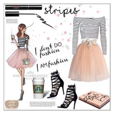 """""""I Am Fashion (Stripes)"""" by pat912 ❤ liked on Polyvore featuring Chicwish, Trish McEvoy, Garance Doré, River Island, Topshop, Stila, Oasis, stripes and polyvoreeditorial"""