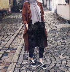 Herbst Hijab Fashion Looks Just Trendy Girls Modern Hijab Fashion, Street Hijab Fashion, Muslim Fashion, Modest Fashion, Fashion Outfits, Fashion Fashion, Trendy Fashion, Fashion Muslimah, Fashion Quotes