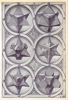 Ignis (b) - Perspectiva Corporum Regularium - Wenzel Jamnitzer 1568