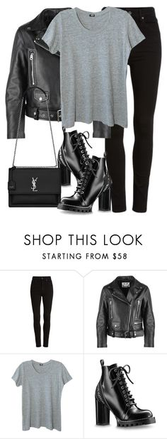 """Untitled #3287"" by elenaday ❤ liked on Polyvore featuring Citizens of Humanity, Acne Studios, Monrow and Yves Saint Laurent"