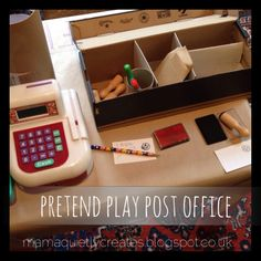 Great pretend play post office from Mama quietly creates