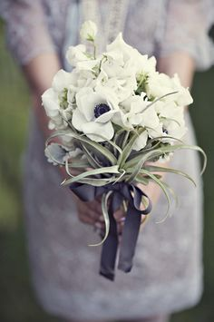 anemone bouquet /// Photo by Heather Kincaid
