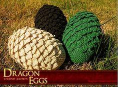 вязаные яйца дракона крючком