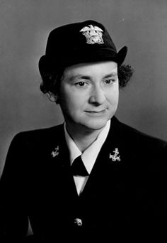 Mildred H. McAfee, president of Wellesley College and Director of the WAVEs. First commissioned women in the Navy.