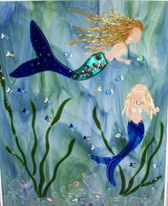 Fused Glass Mermaids - WetCanvas