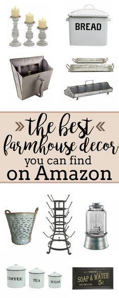 It's been a long time coming for me to make a farmhouse decor post for Amazon! They have an amazing and almost endless selection so there is no doubt you will
