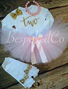 Pink+and+Gold+Second+birthday+/Pink+and+Gold+Two+by+BespokedCo