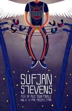 Sufjan Stevens poster by Heather Pullen